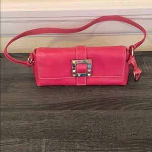 Pink Dooney and Boutke small Leather bag
